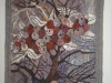 Fruit Tree Tapestry  -  Hand woven tapestry, no loom was used just simple frame
