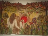 Garden of Eden  - Hand woven tapestry, no loom was used just simple frame