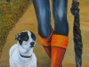 Companion, Oil on Canvas 20 x 40, Sold