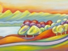 "Dreamland, Acrylic on Canvas, 48 x 18 x 3/4"" - Sold"
