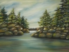 "Georgian Bay, Oil on Canvas, 24 x 36 x 3/4"""