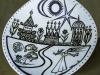 """Porcelain Plate - 12\"""" - porcelain - Sold"""