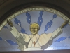1984 - Stained Glass Window depicting late John Paul the II, installed in the Sacred Heart Church in Kitchener, ON. Face and  Hands painted and fired by - Late Andrew Kwiecinski. Design and execution Vlodek Tydor.