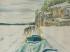Dog Sledding, Watercolour, 22x15 - Sold
